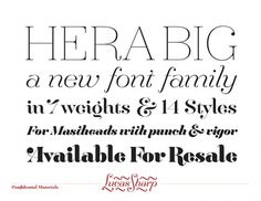 Hera Big - Font Family on the Behance Network #font #hera #sharp #lucas