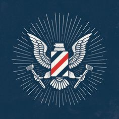 Barbasol Eagle #vintage #logo #eagle #shop #barber