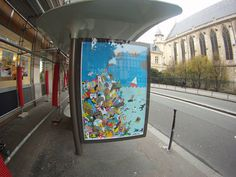 Brandalism, Paris, artwork by B+