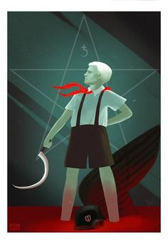 Destroy everything! - Жатва #occult #ussr #illustration #pioneer #dizza