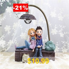 Creative #Boys #And #Girls #Night #Lamp # #Ornaments #With #LED #Light #Resin #Crafts #For #Home #Decor