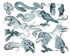Darksiders Creatures #snakes #joe #sketches #mad #raven