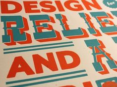 Dribbble - Design for Relief and Aid: Screen Print by Zack Davenport #type #print #screen