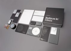 Believe in | Identity Designed #white #silver #print #black #grid #identity #stationery #foil