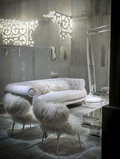 White Living Room Furniture and Decor Ideas by Paola Navone - #decor, #interior, #design, #furniture, #sofa