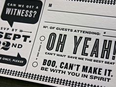 Jon #wedding #invite #letterpress