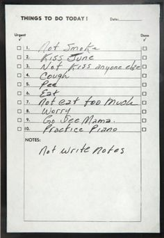 Executive Edits - Content - Johnny Cash To-Do List #music #cash #johnny #list