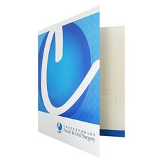 Designer Pocket Folders for Contemporary Surgery (Front Open View) #design #pocket #medical #blue #folder