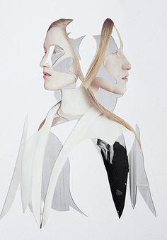 Ernesto Artillo #artillo #woman #floral #illustration #ernesto #collage
