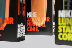 #neon #nike #packaging #print #emboss #shoes