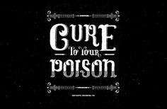Antidote Brewing Co. Custom Typography #beer #branding