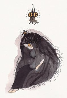 Tumblr #illustration #owl #girl