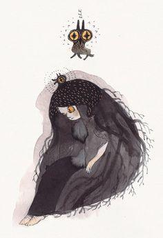 Tumblr #illustration #owl #girl