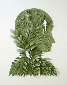 Cut Paper Sculptures and Illustrations by Elsa Mora #illustration #sculpture