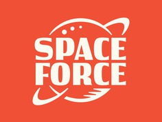 Space Force patch logo science planet lettering scifi force space