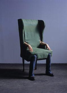 Commonplace Correspondence #design #art #green #chair #human #arm #jami #performing