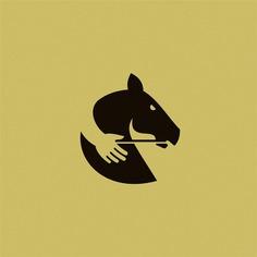 Negative Space Horse Logo