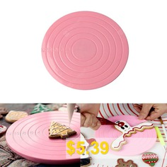 Mini #360 #Degree #Cake #Rotating #Plate #Stand #Platform #Turntable #Anti-skid #Round #Cake #Baking #Tools
