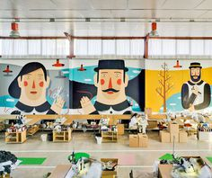 sancal_40th_birthday_murals #illustration #mural #installation