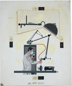 Charley Harper / Laser surgery / 1970 #charley #harper