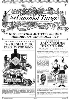 The Unusual Times Print Edition #field #guide #print #gin #hendricks