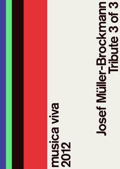 Josef Müller Brockmann poster #poster #swiss