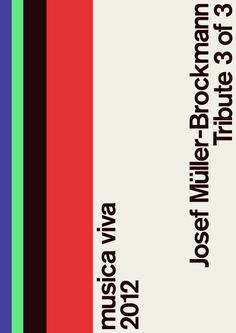 Josef Müller Brockmann poster