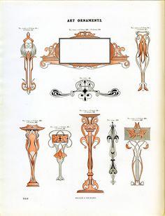 A vintage specimen of Miller and Richard Art Ornaments type #type specimen