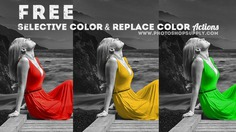 Selective Color & Replace Color Photoshop Action | FREE