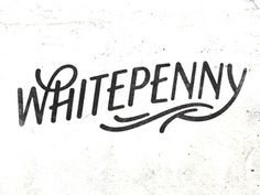 Whitepenny by Simon Walker #typography #lettering #simon walker #white penny