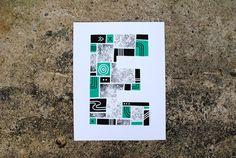 Letter E #illustration #typography #type #screen print #letter