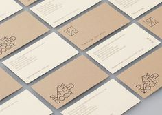 The Slanted Door — Manual #identity #business card #manual #identity design #manual creative
