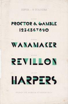 Someblog (or other): Adolphe Mouron Cassandre - Bifur promotional brochure #typeface #bifur #am cassandre