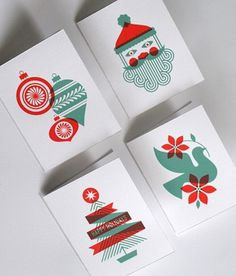 Two-color Christmas cards #christmas