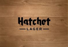FFFFOUND! | JenniferHicks.ca - Hatchet Lager #type #logo #beer #typography