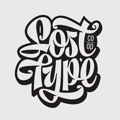 Lost Type by @melvastype