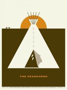 The Searchers (1956) #horses #western #ford #american #the #indian #teepee #john #wayne #poster #searchers #native