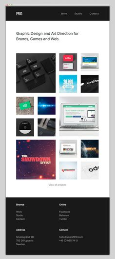 1910 Design & Communication #layout #website #web #web design