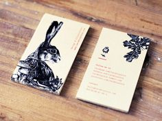 Lara Bispinck – Design & Illustration, business cards #rabbit #illustration #business card #realistic #bird #mushrooms #graphic design #oa