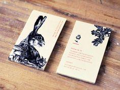 Lara Bispinck – Design & Illustration, business cards #oak #business #card #design #graphic #bird #illustration #mushrooms #realistic #rabbit