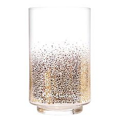 Kirby Gold Dots Glass Hurricane