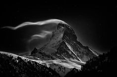 Nenad Saljic #black and white #mountains #matterhorn #cervino