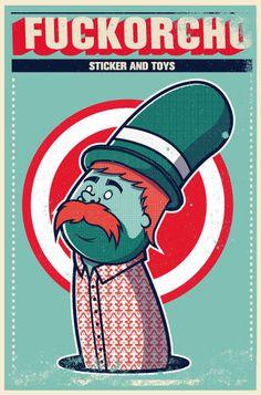 Joder en Behance #beard #korcho #ilustracin