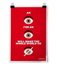 An Eye for an Eye #an #design #graphic #eye #illustration #ghandi #for #poster #typography
