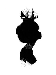 Boat Hat - Society6 #white #girl #black #tattoo #sea #silhouette #boat