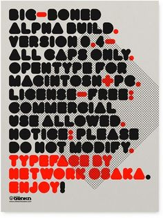 Network Osaka > Portfolio > Big Boned #rounded #type #bold #poster