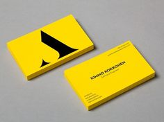 Attido on the Behance Network #business card #yellow #attido