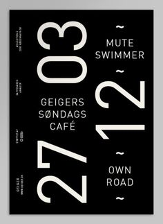 ... geiger magazine via behance. #poster #typography