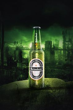 by Patrick Romer // pattn.net #beer #refreshment #armageddon #branding #bottle #apocalypse #heineken #green