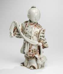 Porcelain figure of a boy with dog-European painting #Sets #Tea sets #Porcelain sets #Antique plates #Plates #Wall plates #Figures #Porcelain figurines #porcelain